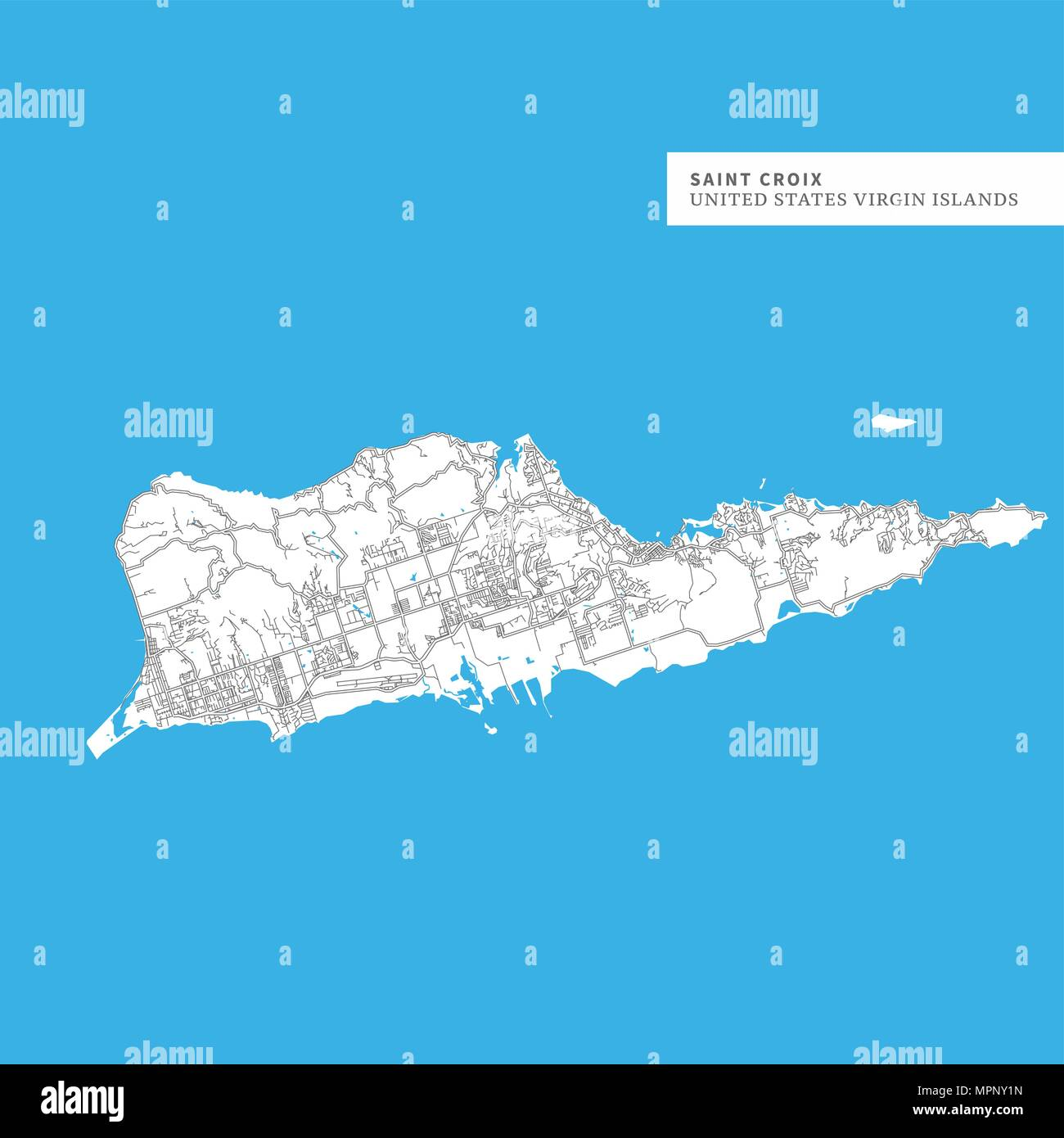 Map of Saint Croix Island, United States Virgin Islands, contains ...