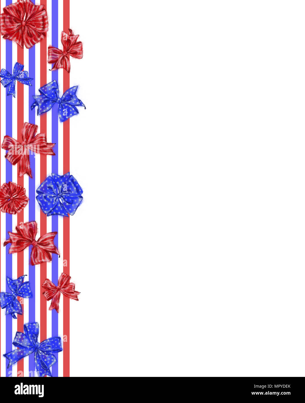 patriotic template design with tricolor ribbons and bows 4th of