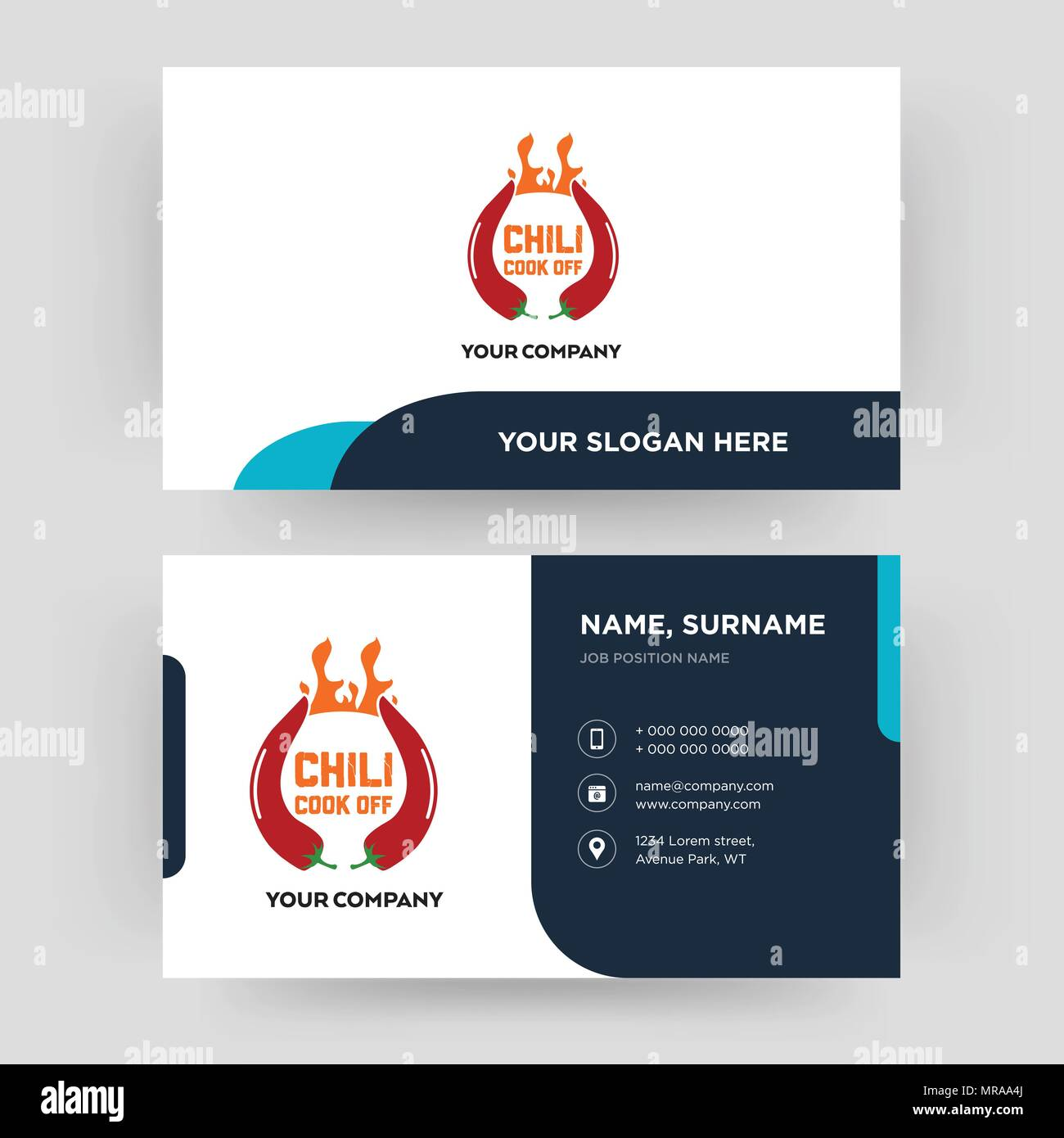 chili cook off, business card design template, Visiting for your ...