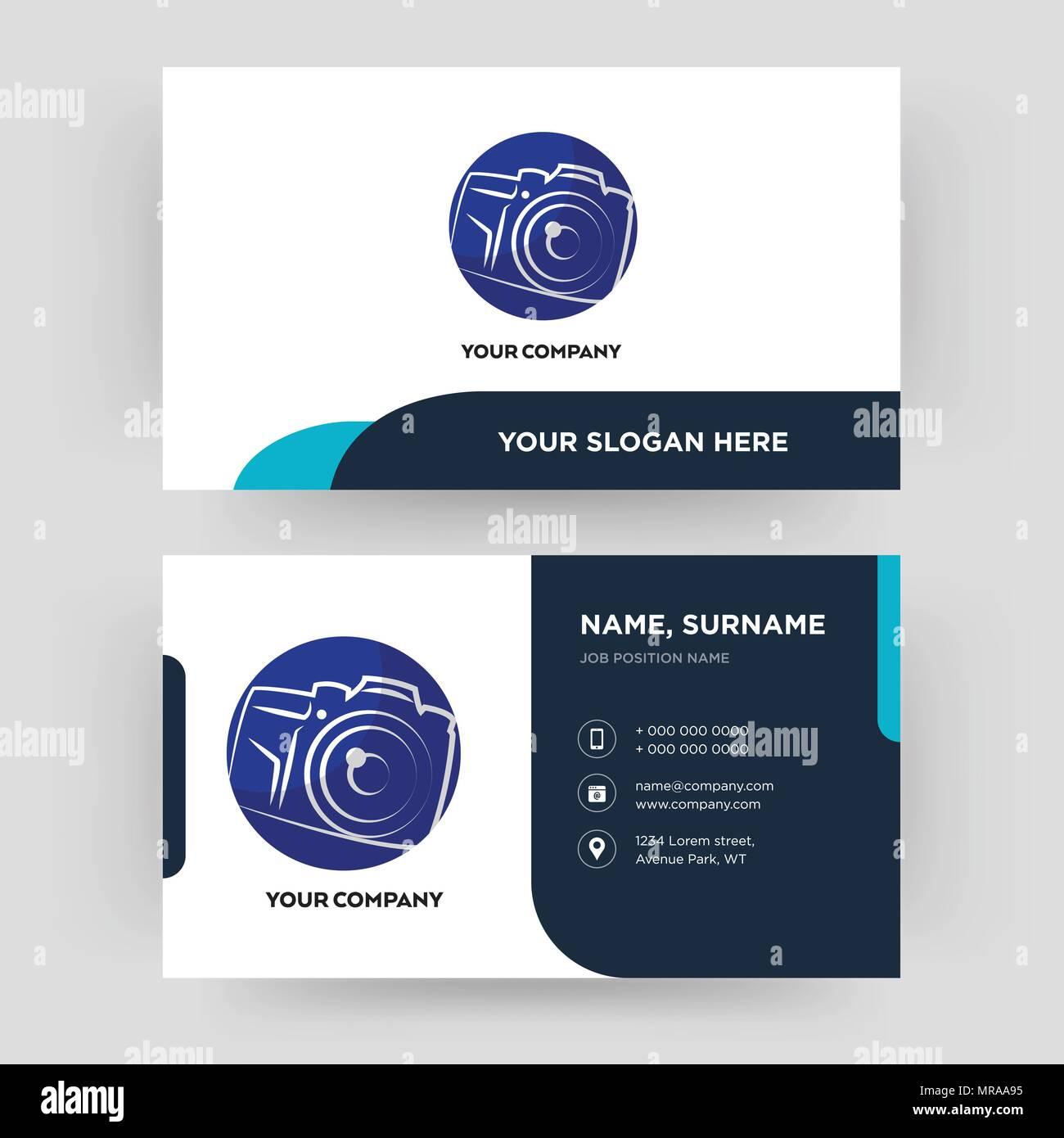 Photography camera business card design template visiting for your photography camera business card design template visiting for your company modern creative and clean identity card vector colourmoves