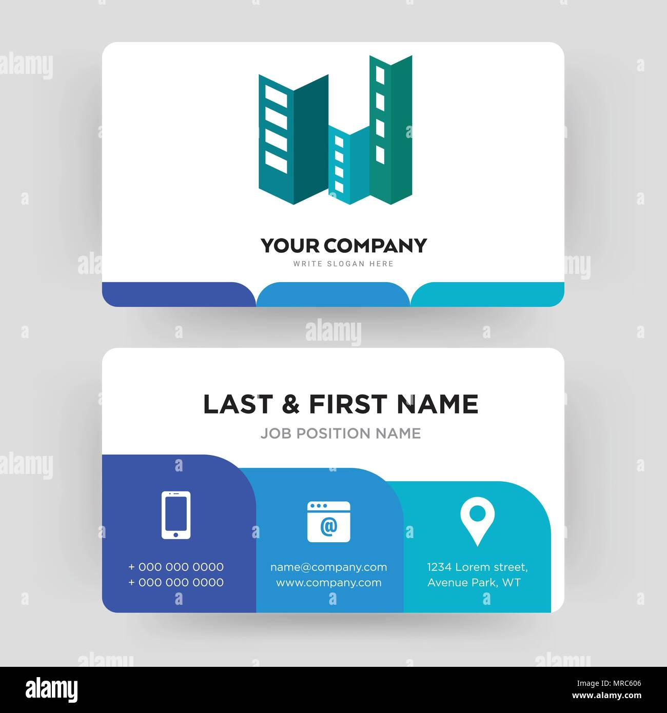 Construction business card design template visiting for your construction business card design template visiting for your company modern creative and clean identity card vector accmission Image collections