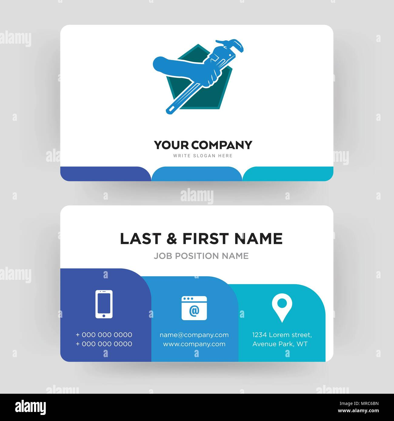 Plumber business card design template visiting for your company plumber business card design template visiting for your company modern creative and clean identity card vector colourmoves