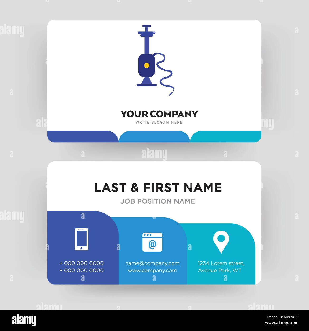 Shisha business card design template visiting for your company shisha business card design template visiting for your company modern creative and clean identity card vector reheart Images