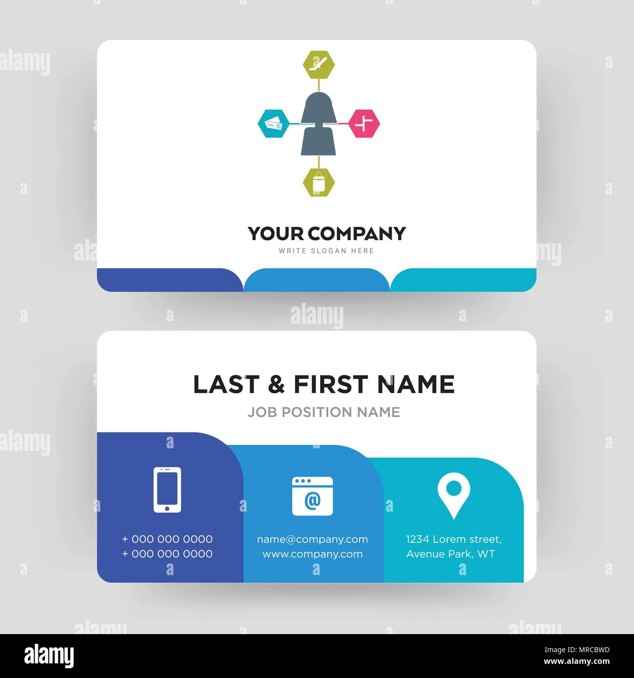 Travel Agent Business Card Design Template Visiting For Your