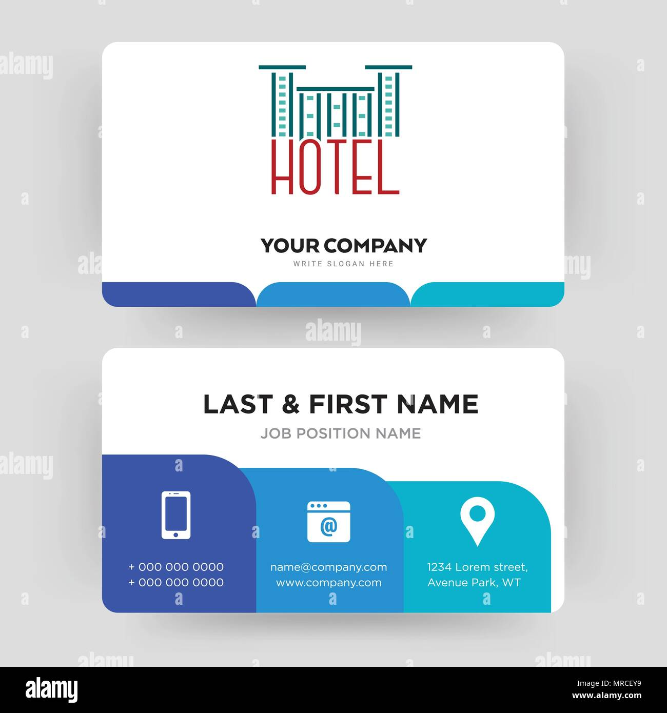 Hotel business card design template visiting for your company hotel business card design template visiting for your company modern creative and clean identity card vector colourmoves