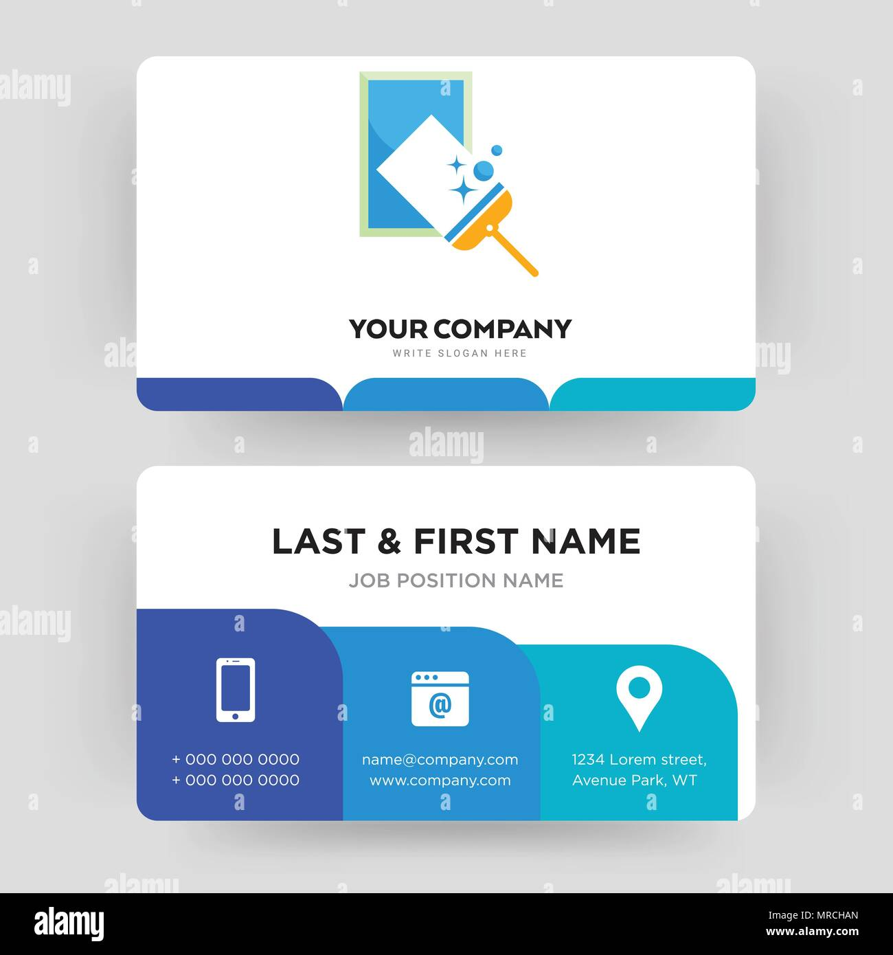 window cleaning business card design template visiting for your