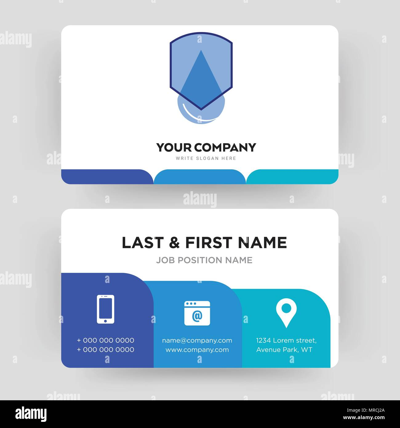 waterproof business card design template visiting for your company modern creative and clean identity card vector - Waterproof Business Cards