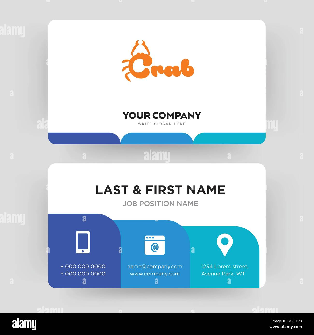 Crab business card design template visiting for your company crab business card design template visiting for your company modern creative and clean identity card vector maxwellsz