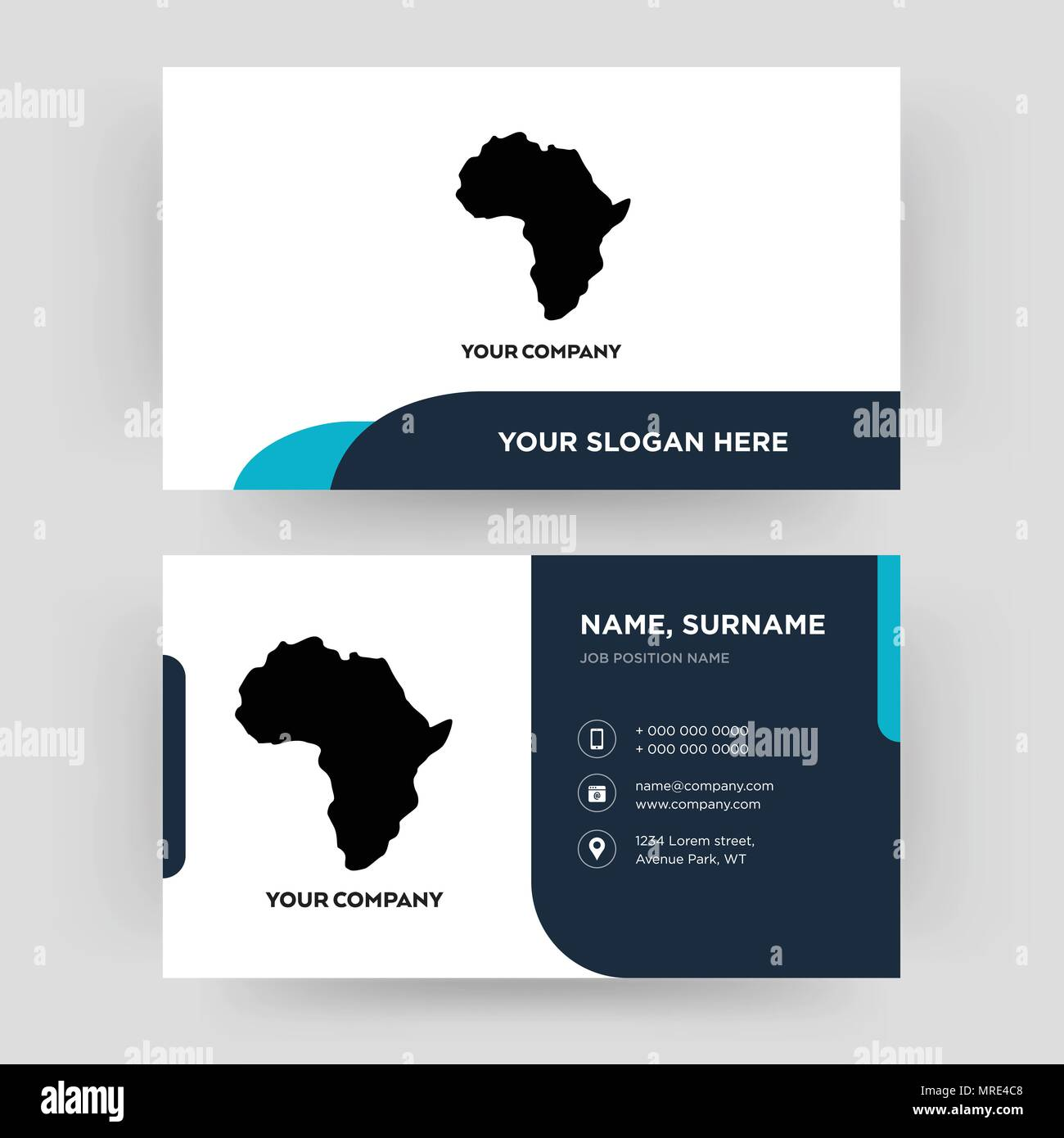 African continent business card design template visiting for your african continent business card design template visiting for your company modern creative and clean identity card vector colourmoves
