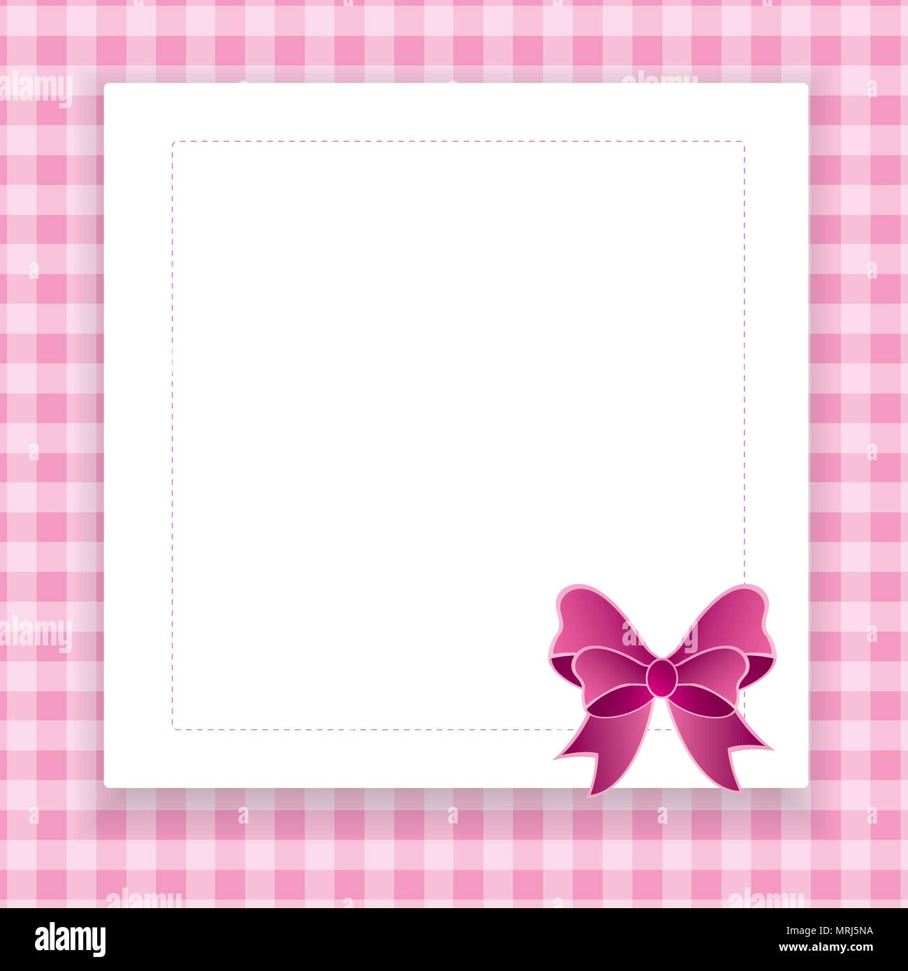 Pink vector invitation card for baby shower, wedding or birthday ...