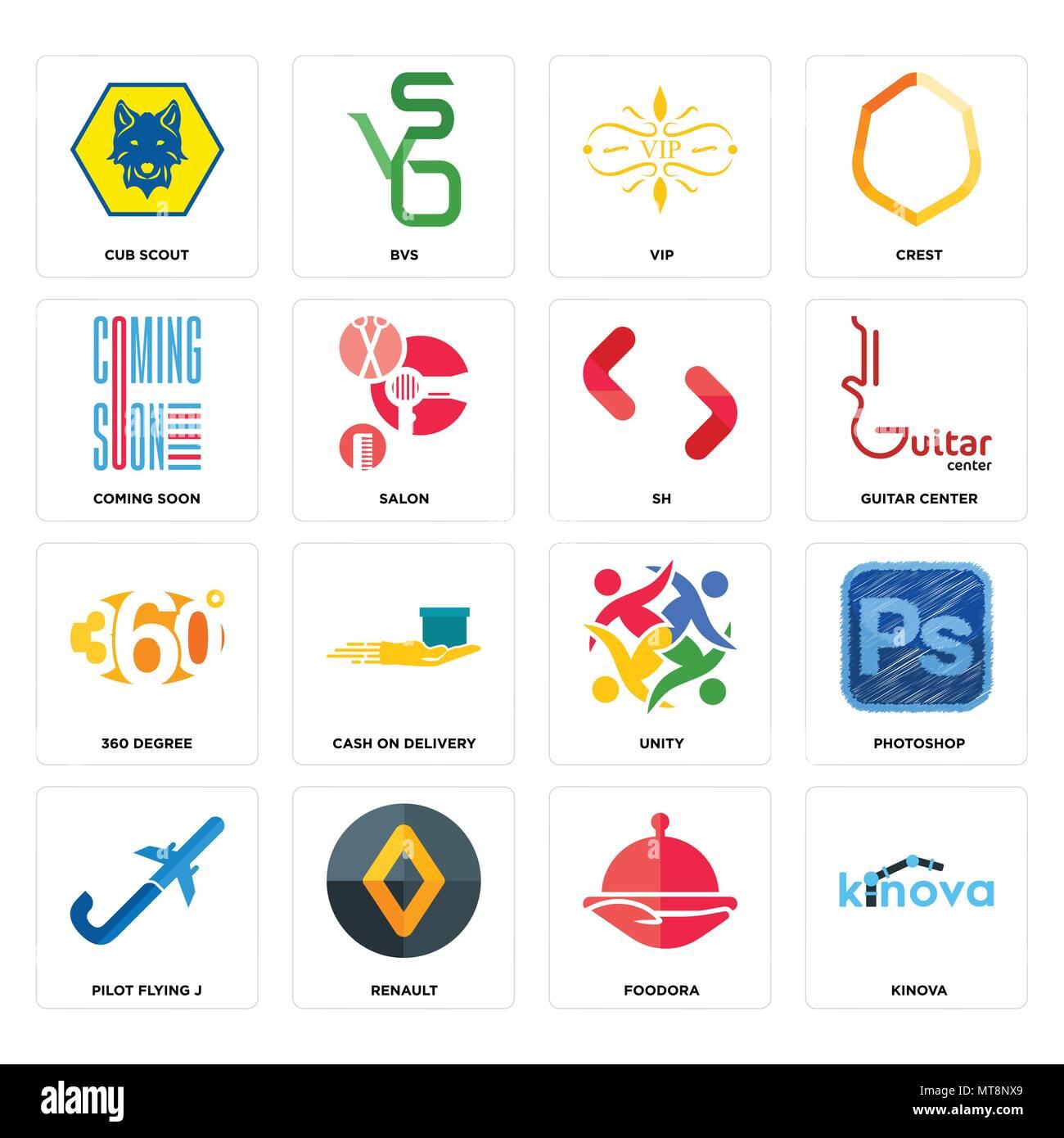 Set Of 16 Simple Editable Icons Such As Kinova Foodora Renault