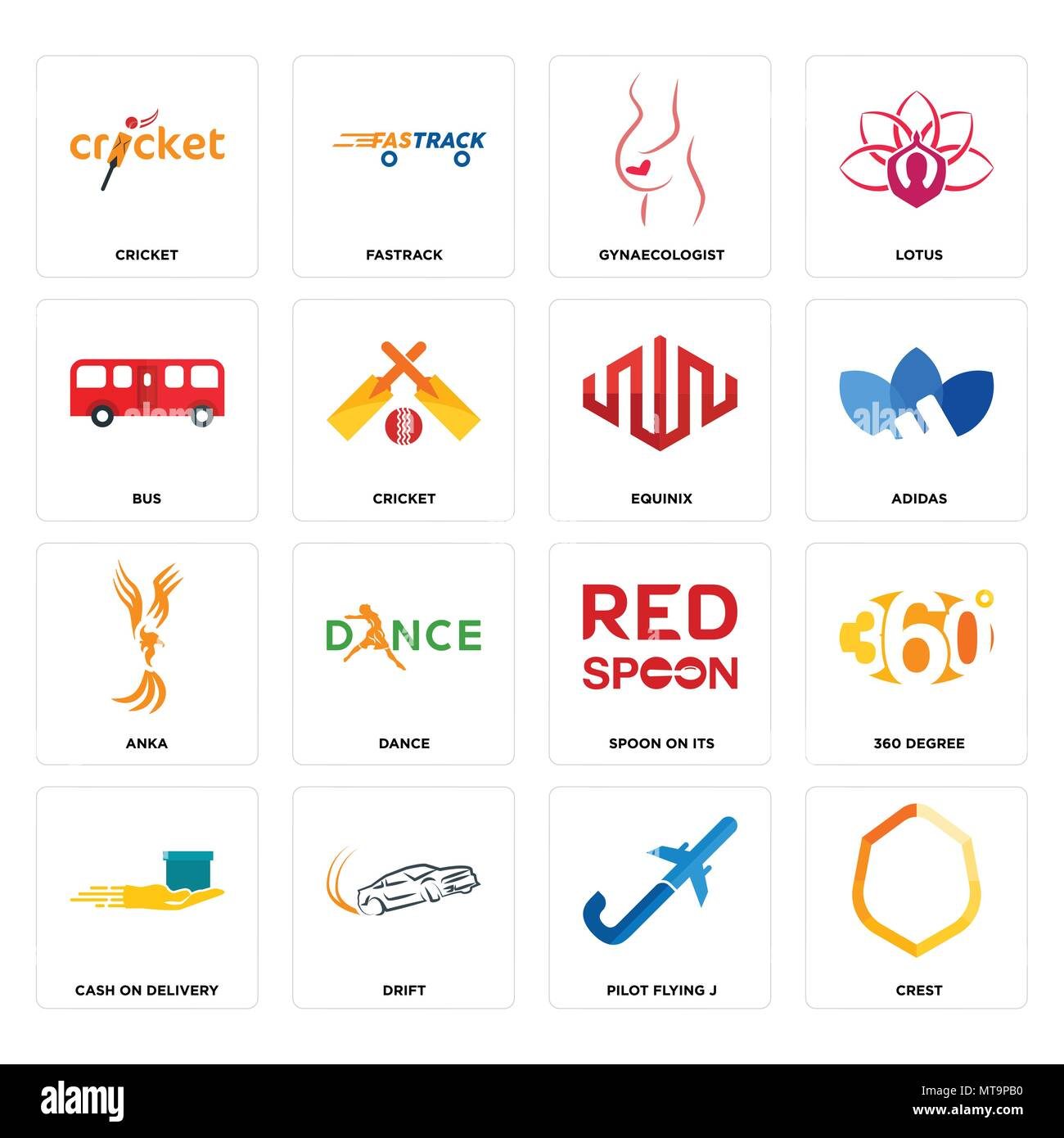Set Of 16 Simple Editable Icons Such As Crest Pilot Flying J Drift