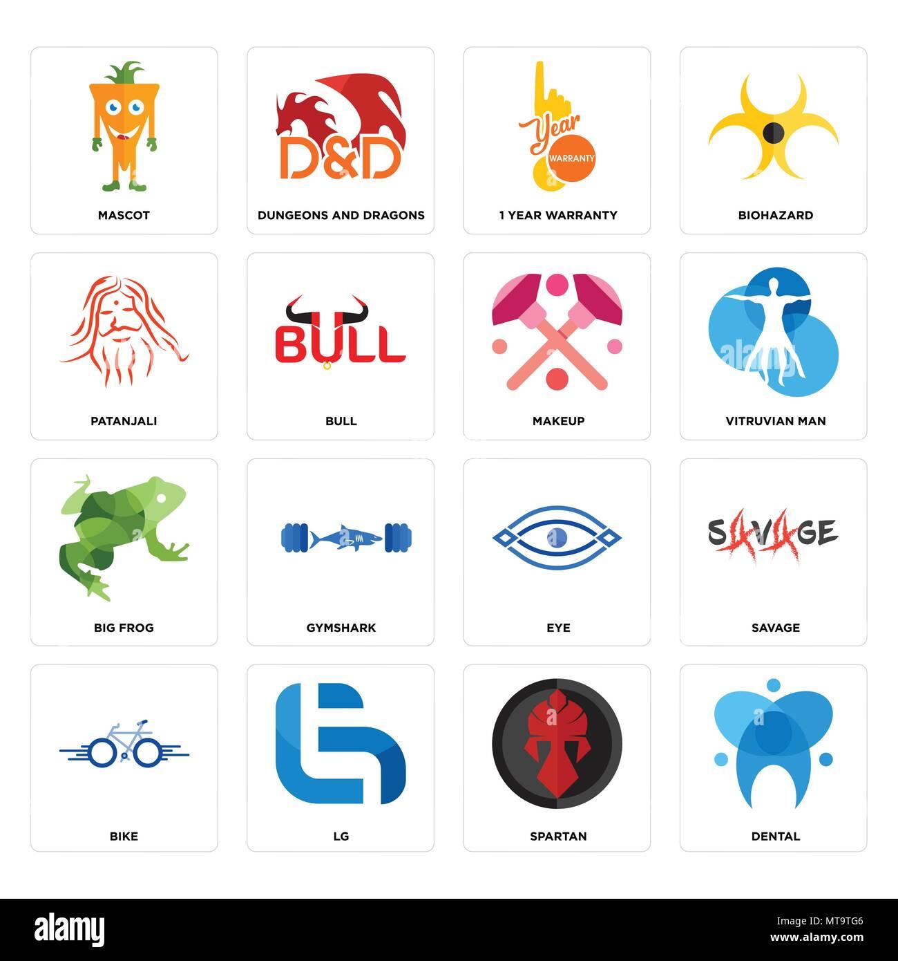 Set Of 16 Simple Editable Icons Such As Dental Spartan Lg Bike