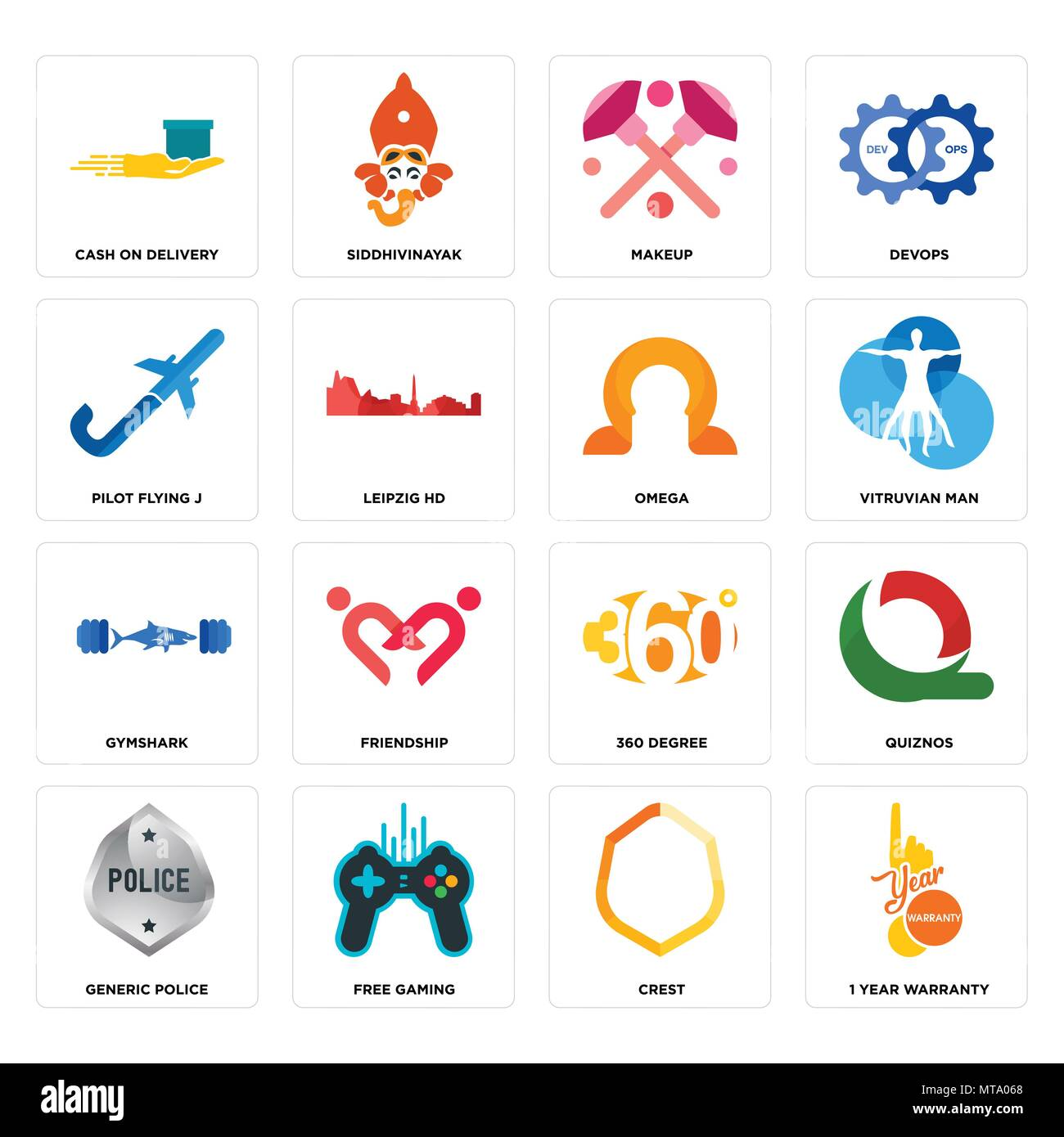 Set Of 16 Simple Editable Icons Such As 1 Year Warranty Crest Free