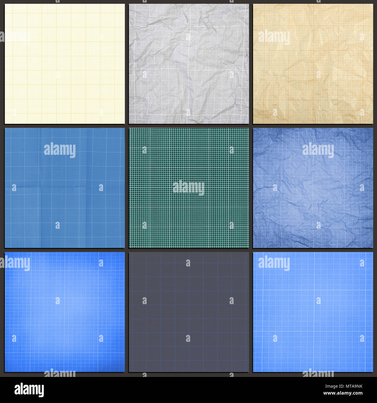 collection of blueprint background millimeter engineering paper