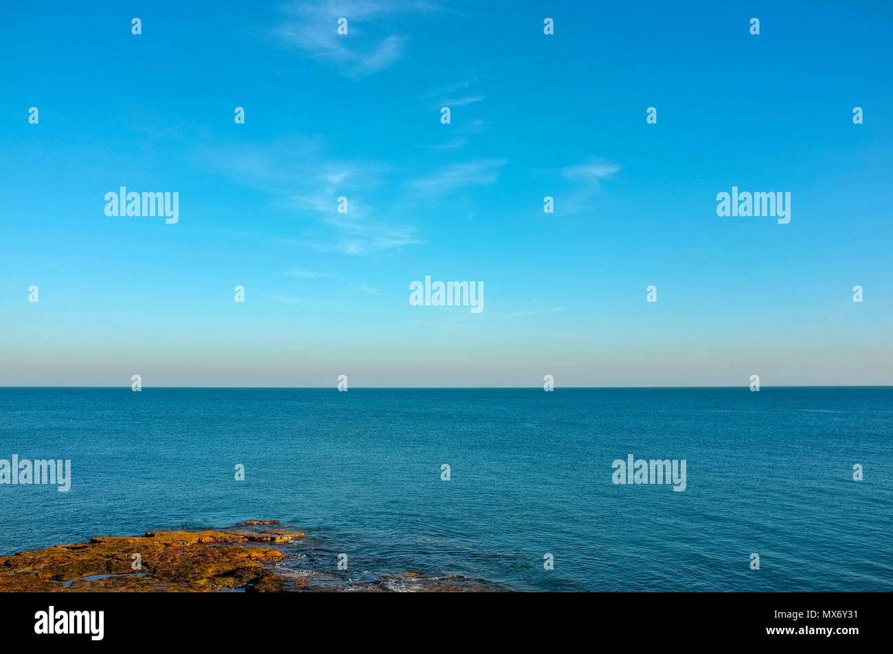 View of the sea from Nightcliff Foreshore in Darwin, Northern Territory Australia Stock Photo