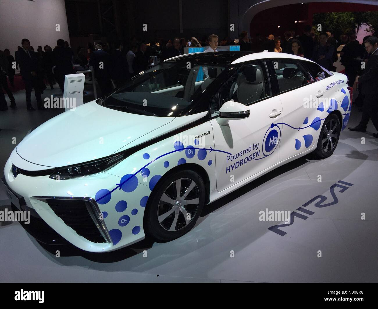 Paris, France. 29th September, 2016: Latest version of groundbreaking Toyota Mirai powered by hydrogen fuel cells - Stock Image