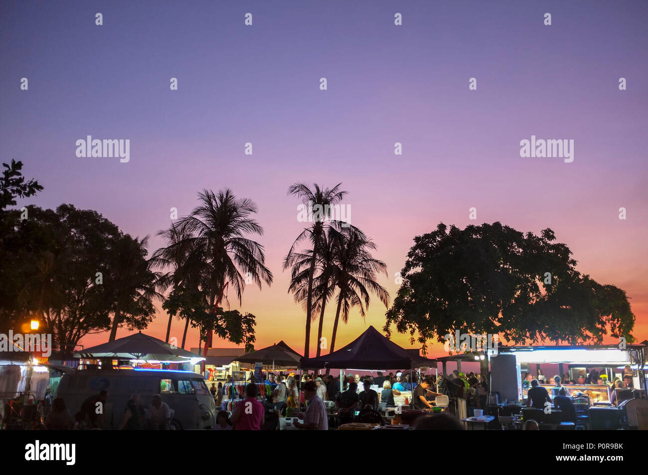 Mindil Beach sunset market in Darwin, Northern Territory, Australia.Stock Photo
