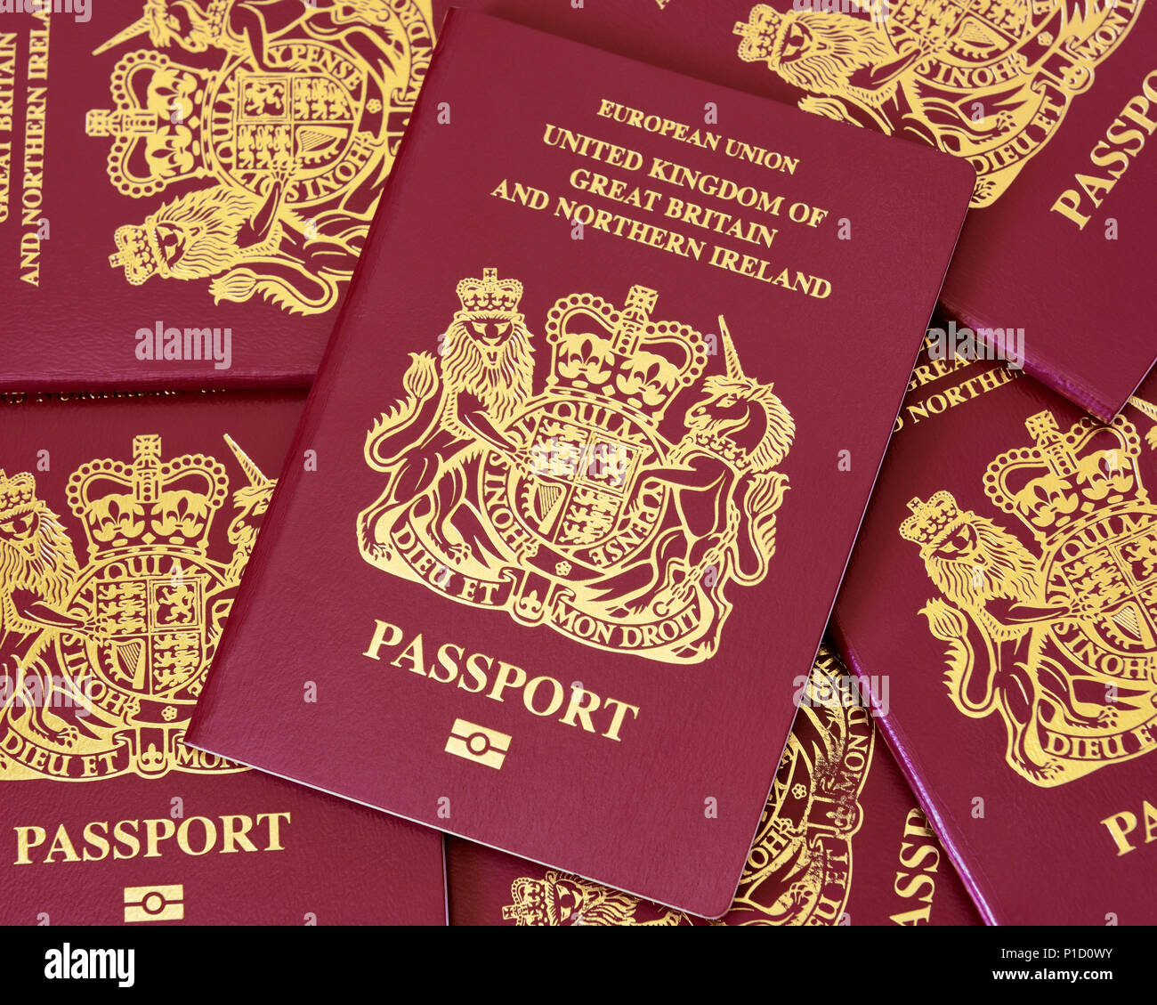 British PassportStock Photo
