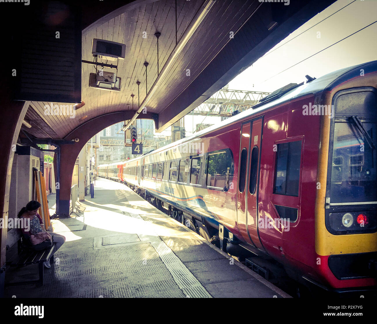 GoTonySmith,@HotpixUK,arriving,rail,North West England,UK,atmospheric,Oxford Street,city centre,GMPTE,integrated transport,Oxford Road Platform,architecture,drama,dramatic,station,Northern,Northern Rail,MSJAR,investment,lines,wood,wooden,TOC,morning,canopies,canopy,roof,cover,William Robert Headley,Max Clendinning,curve,curves,innovative building,building,inside,platform,conoid shell roofing,timber,structure