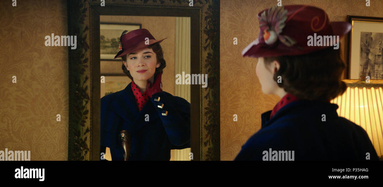 Mary Poppins Returns (also known as Mary Poppins 2) is an upcoming American musical fantasy film directed by Rob Marshall and written by David Magee. It is the sequel to the 1964 film Mary Poppins. The film stars Emily Blunt, Lin-Manuel Miranda, Meryl Streep, Ben Whishaw, Emily Mortimer, Pixie Davies, Joel Dawson, Nathanael Saleh, Julie Walters, Colin Firth and Angela Lansbury.  This photograph is for editorial use only and is the copyright of the film company and/or the photographer assigned by the film or production company and can only be reproduced by publications in conjunction with the pStock Photo