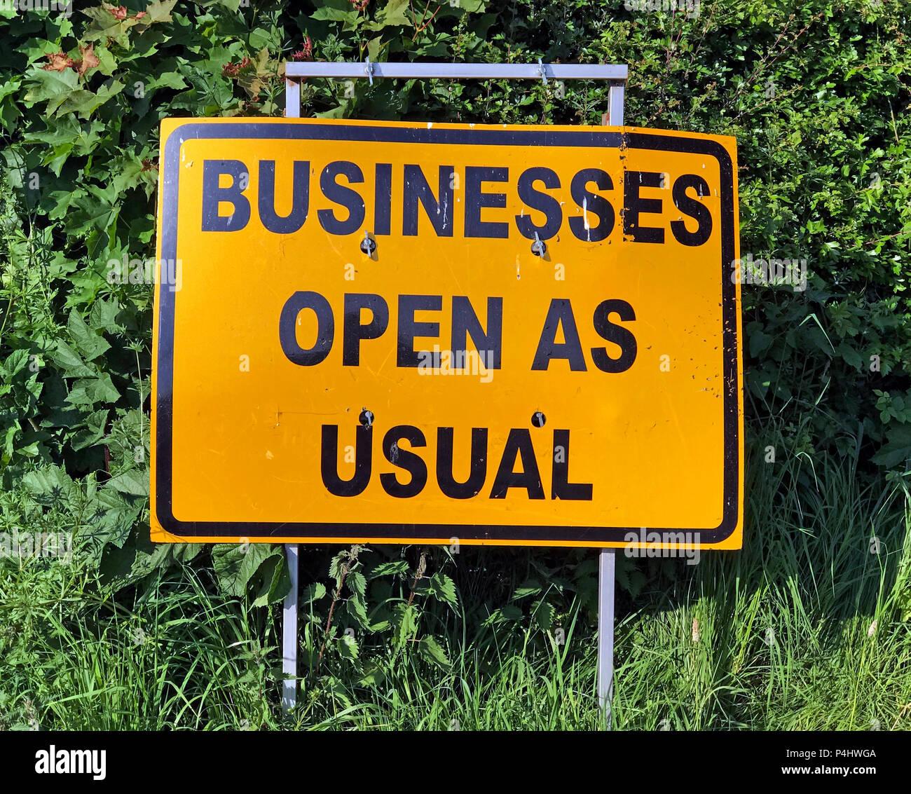 GoTonySmith,@HotpixUK,HotpixUK,Businesses Open as usual sign,Businesses Open,as usual,sign