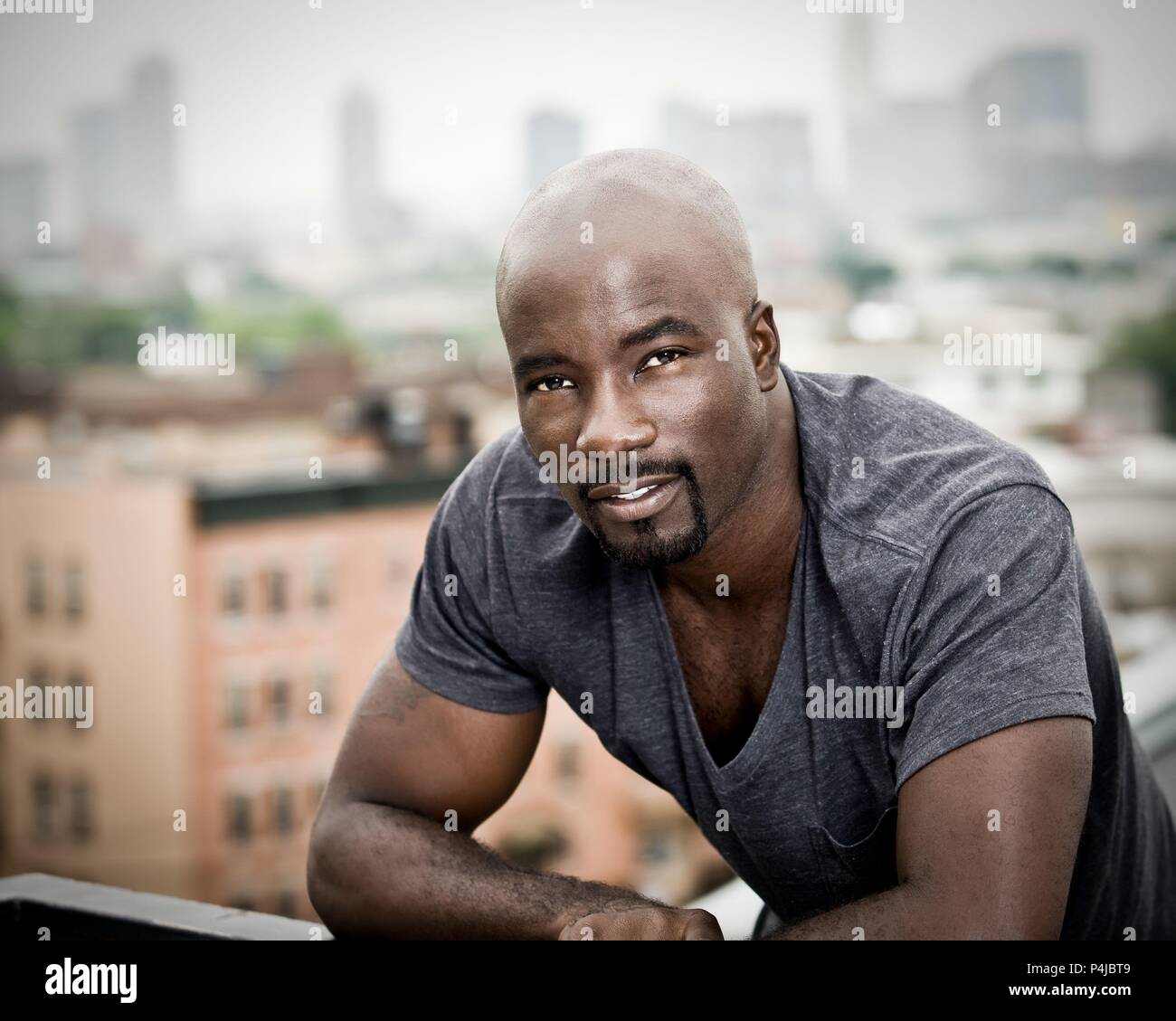 Original Film Title: LUKE CAGE.  English Title: LUKE CAGE.  Film Director: CHEO HODARI COKER.  Year: 2016.  Stars: MIKE COLTER. Credit: NETFLIX / Album Stock Photo