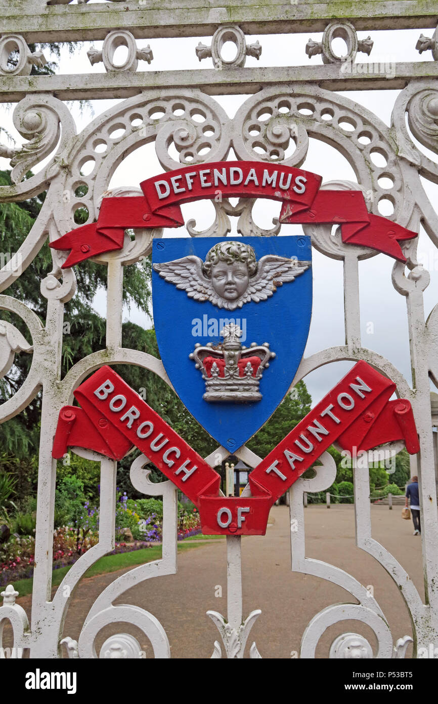 GoTonySmith,@HotpixUK,Taunton Deane Borough Council,TA1,Taunton - Upper High St,Somerset,UK,TA1 3SX,South West,England,public open space,medieval fish farm,parks,garden,gardens,William Kinglake,Defendamus Borough of Taunton,Defendamus,Borough of Taunton,cherub above a royal crown,cherub,royal crown,crest,logo,Taunton Crest,Taunton Logo,Taunton Deane Council,Taunton Deane,Council,red,blue,white,borough,winged cherub,crown,we shall defend