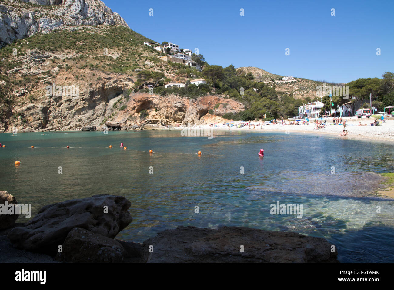 Playa de la Granadella in Javea Spain Stock Photo