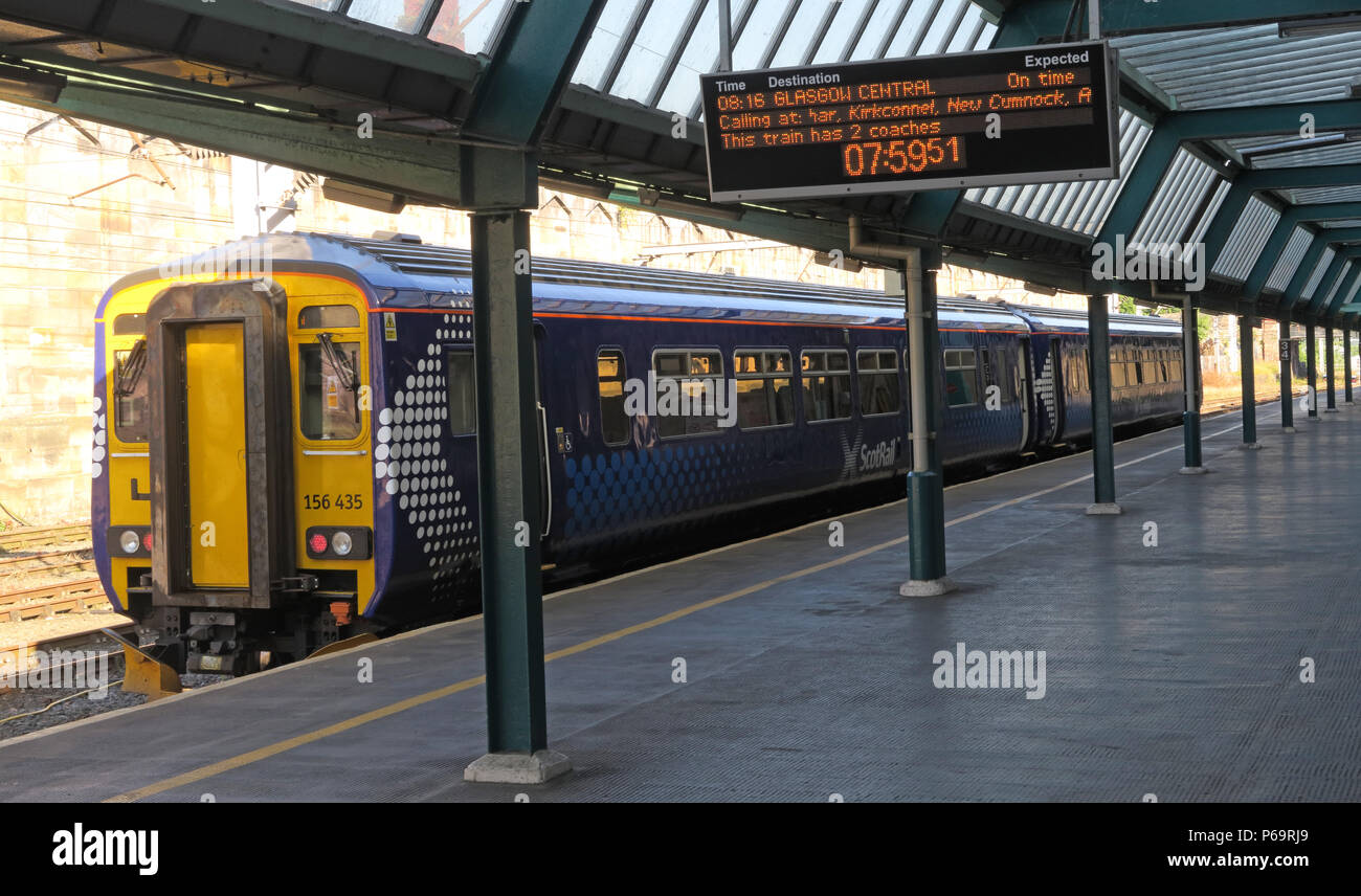 GoTonySmith,@HotpixUK,Court Square,Cumbria,Carlisle,CA1 1QZ,to,via,Dumfries,at,platform 1,platform One,Scotrail train,North West England,UK,156435,156 435,08,16,central,Glasgow Central,Central,Diesel,Multiple,Unit,at the platform,Reile na h-alba,Alba,seat,seats,empty,morning,slow,train,livery,Abellio