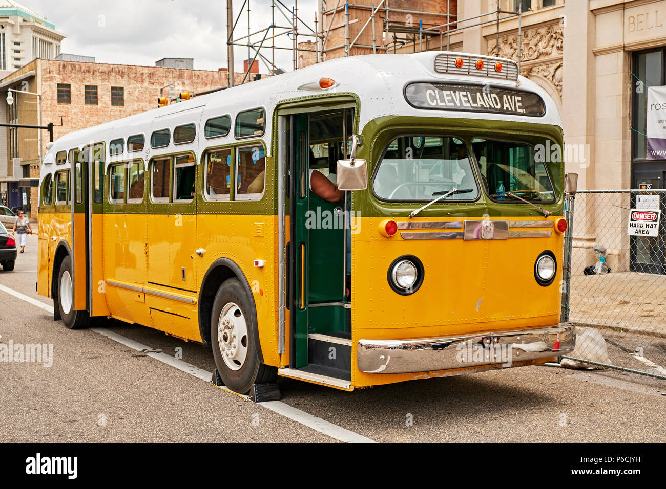 Replica of the Rosa Park's bus she was arrested from during the civil rights struggles in the 1960s in Montgomery Alabama, USA. Stock Photo