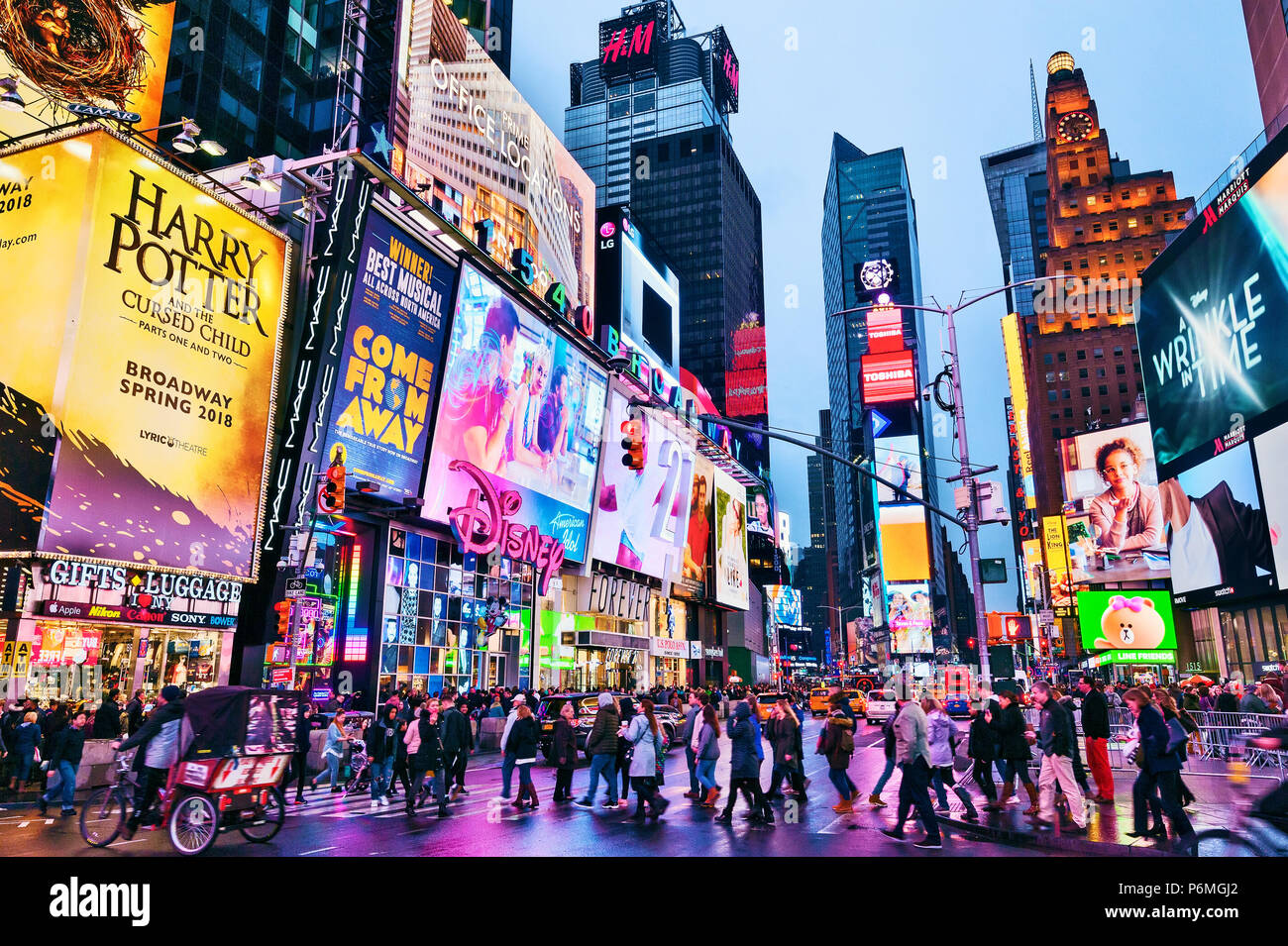 Times Square New York Lights Manhattan New York City Stock Photo