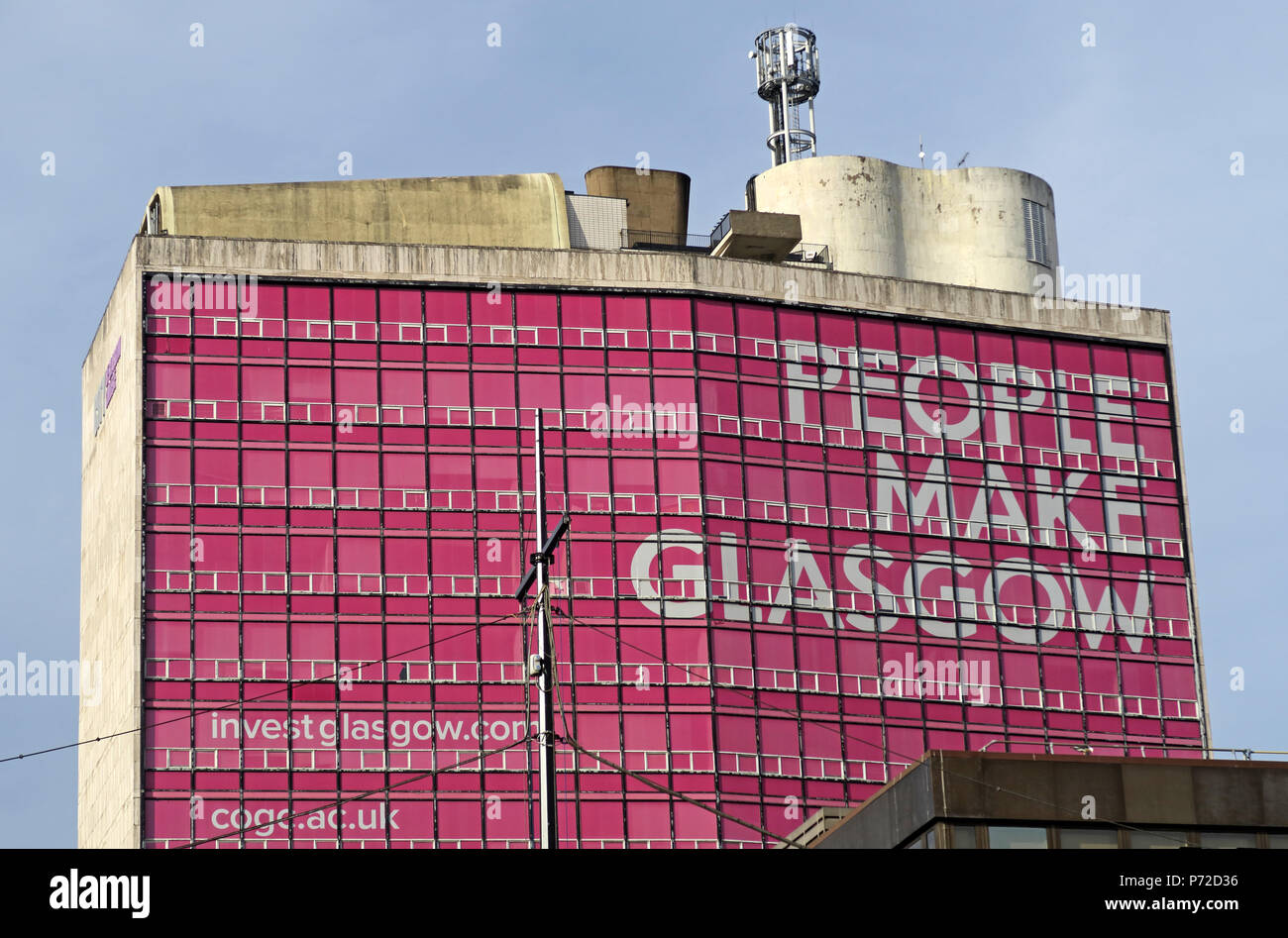 HotpixUK,GoTonySmith,Glasgow,UK,G1,pink,building,Glaswegian,People Make Glasgow in pink,Strathclyde University,in pink,Glasgow City,Brand,City of Glasgow College building,Met Tower,City of Glasgow,College building,Met,Tower,City of Glasgow College