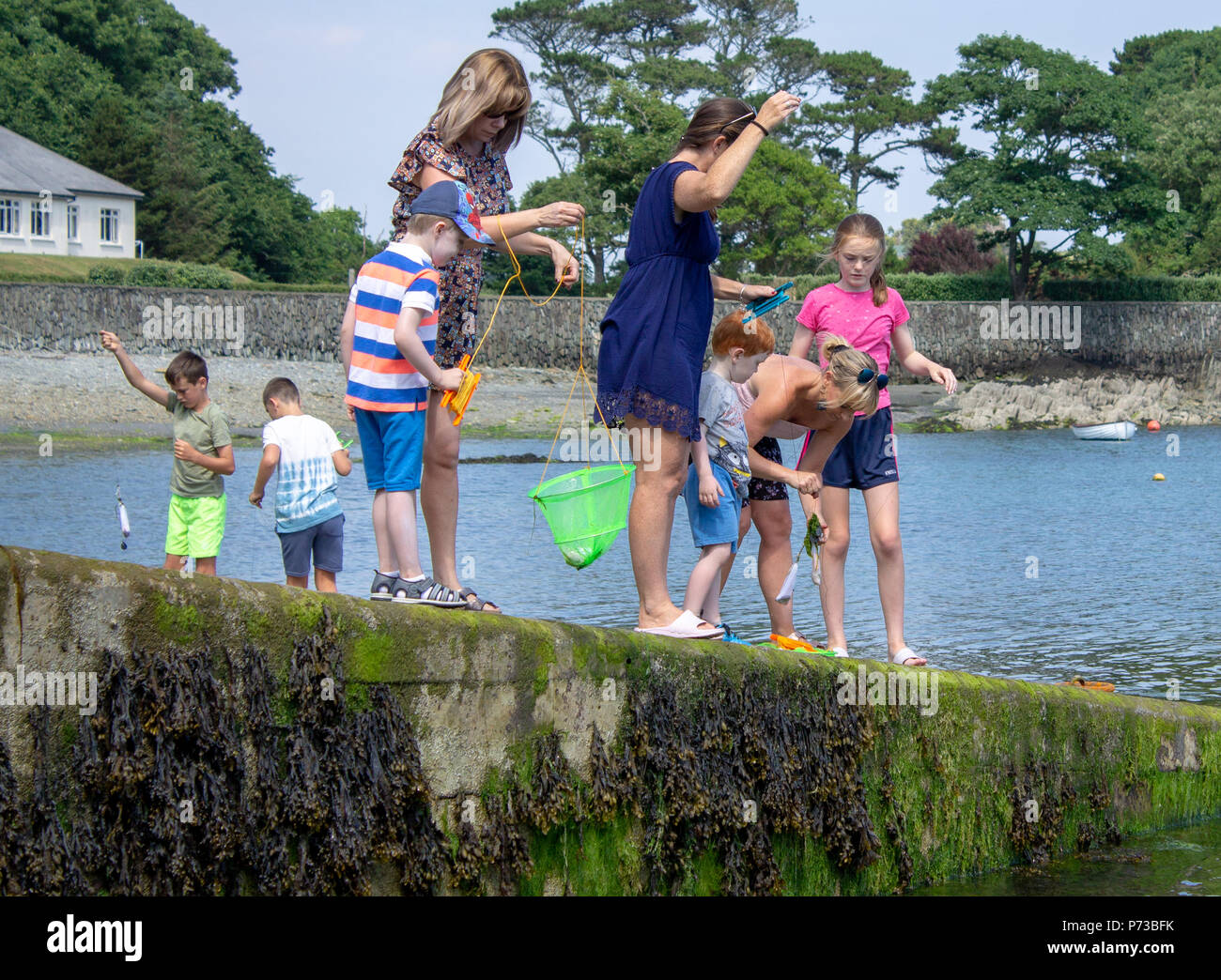 castletownshend-west-cork-ireland-4th-july-2018-mums-and-children-fishing-for-crabs-beside-the-slipway-in-castletownshend-on-yet-another-gloriously-sunny-afternoon-credit-aphperspectivealamy-live-news-P73BFK.jpg