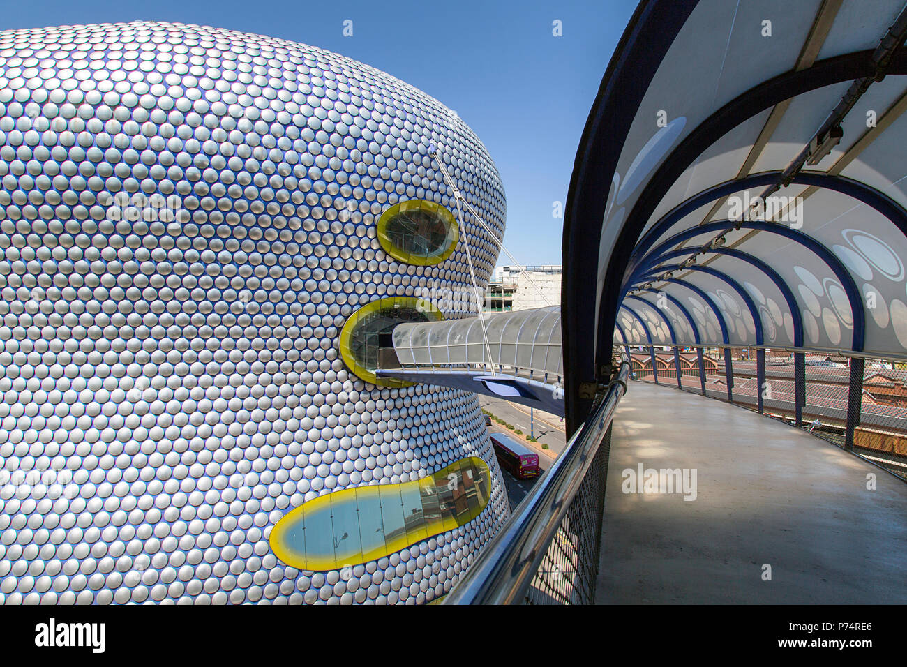 Birmingham, UK: June 29, 2018: Selfridges Department Store in Park Street, part of the Bullring Shopping Centre - from the multi-storey car park. Stock Photo