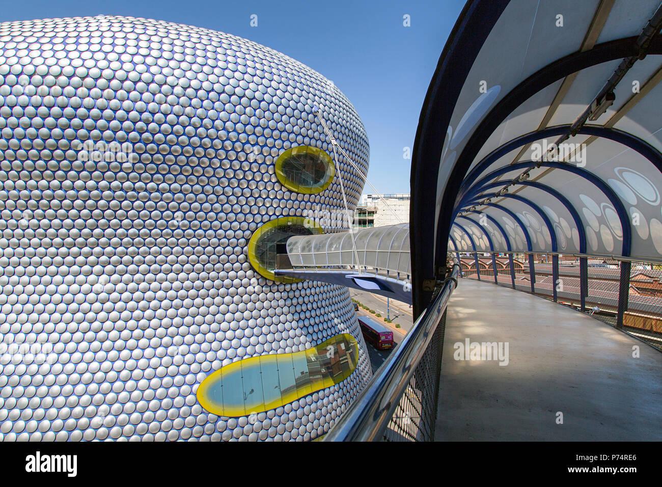 Birmingham, UK: June 29, 2018: Selfridges Department Store in Park Street, part of the Bullring Shopping Centre - from the multi-storey car park. Stock Photo