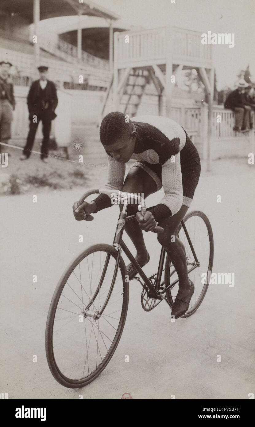 [Collection Jules Beau. Photographie sportive] : T. 15. Année 1901 / Jules Beau : F. 48. Major Taylor . 1901 20 Btv1b84333426-p099-1 Stock Photo