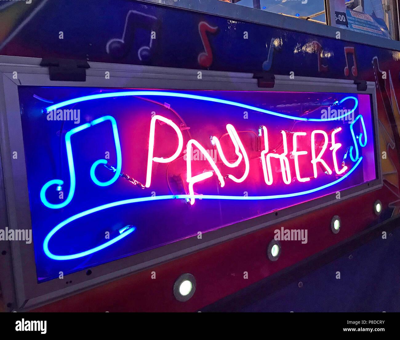 @HotpixUK,GoTonySmith,Silverstone,racing circuit,F1,GP,Formula One,Grand Prix,GrandPrix,Silverstone Woodlands,2018,night,evening,nighttime,night time,bright,lit,light,lighted,Blue,red,Pay here neon sign