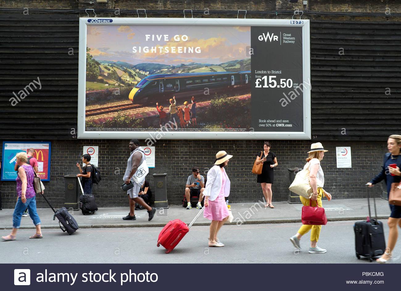 train-travel-rail-journey-advert-for-gwr-passenger-fare-for-london-to-bristol-advertised-london-paddington-station-london-uk-P8KCMG.jpg
