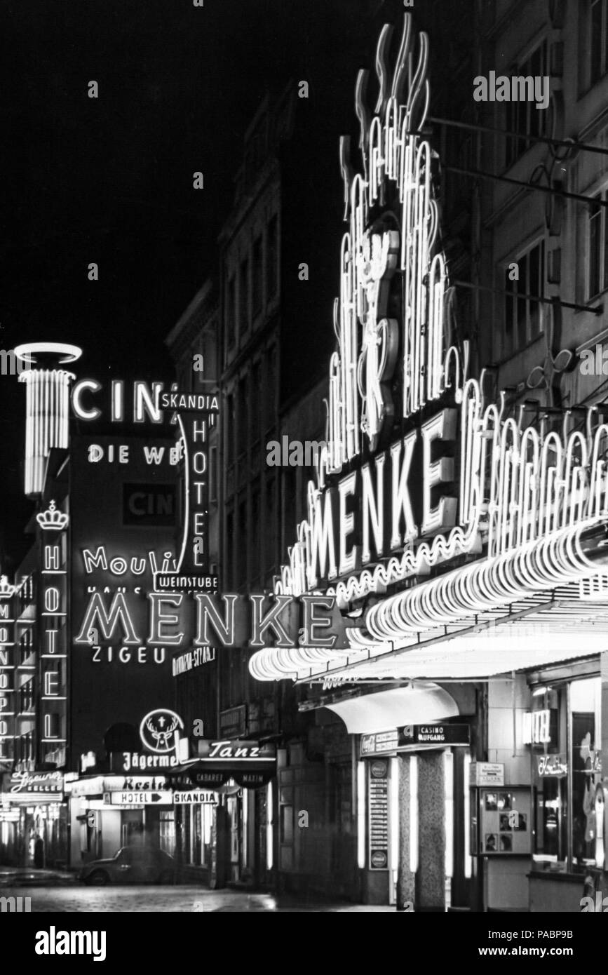 black-and-white-photo-of-the-neon-lights