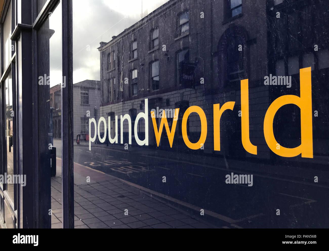 @HotpixUK,GoTonySmith,retail store,closed,retailer,Bridge Street,Warrington,Cheshire,North West England,UK,Retailer,bankrupt,High street shop,failed,logo,sign,Poundworld goes bust,Brexit,internet effect,Chris Edwards Sr,Chris Edwards Jr,Poundland,Everything a pound,everything a £1,Poundworld shop window,Poundworld shop logo,Poundworld shop window logo