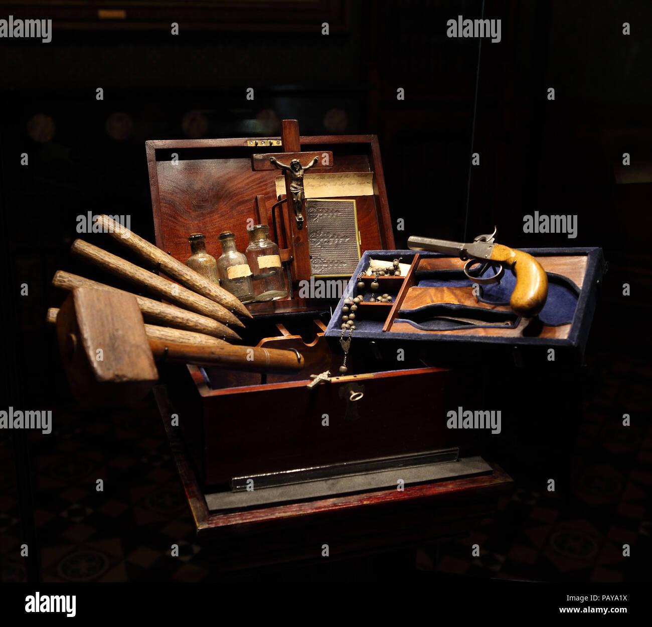 Vampire killing kit Stock Photo