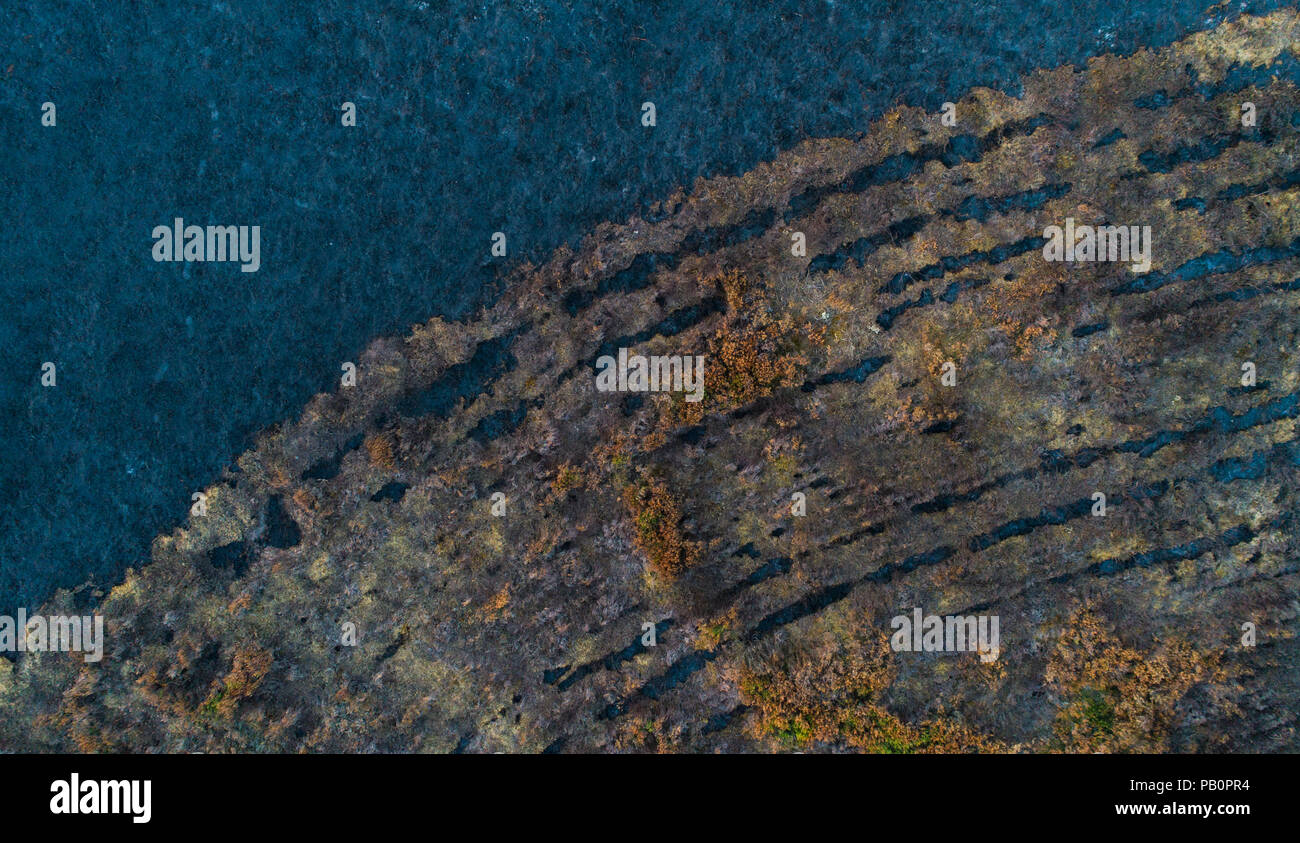 abstract-aerial-view-of-a-moorland-area-that-was-burned-by-a-wildfire-in-2018-randbl-hede-at-billund-denmark-PB0PR4.jpg