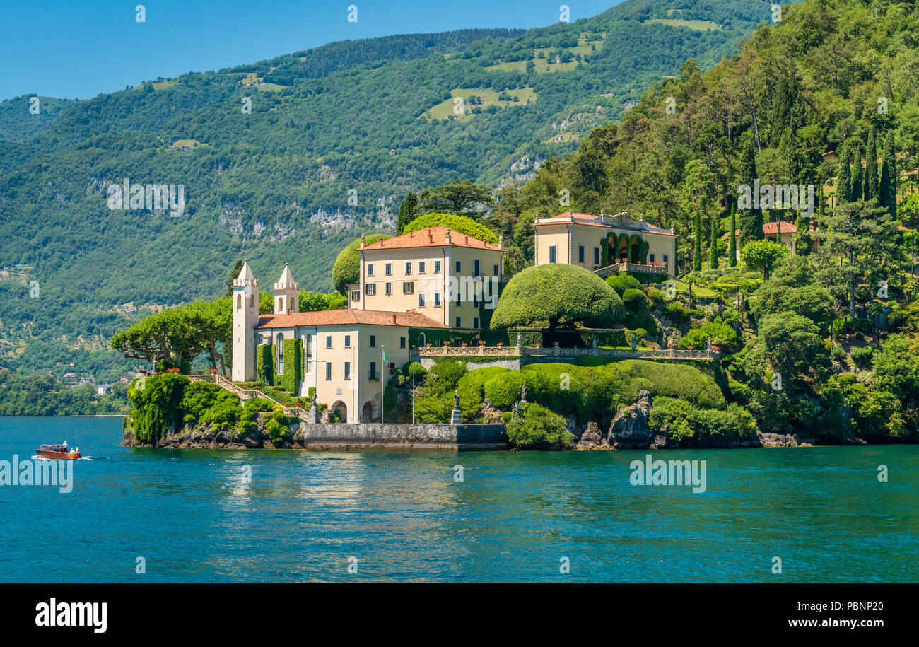 Villa del Balbianello, famous villa in the comune of Lenno, overlooking Lake Como. Lombardy, Italy. Stock Photo