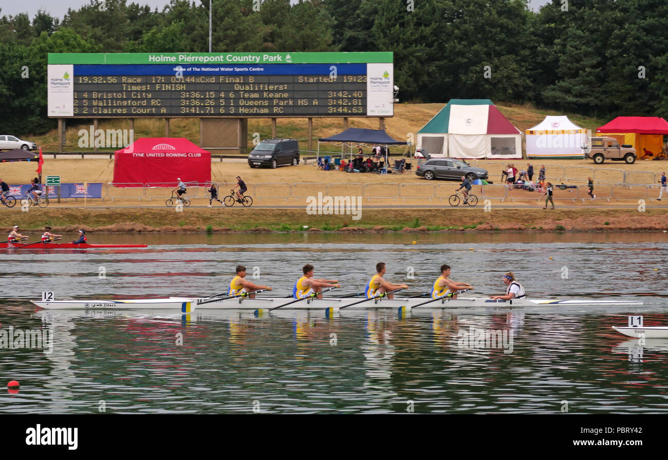 GoTonySmith,@HotpixUK,skulls,skulling,boat,boating,race,racing,row,sport,young,youth,water,river,BRJC,British Rowing Junior Championships,Nottingham 2018,England,UK,Viola Beach,quad,cox,2018,rowing past scoreboard,scoreboard,tent,tents,gazebo,gazebos,position,lead,leads,July 2018,July,summer,Quinn,River Reeves