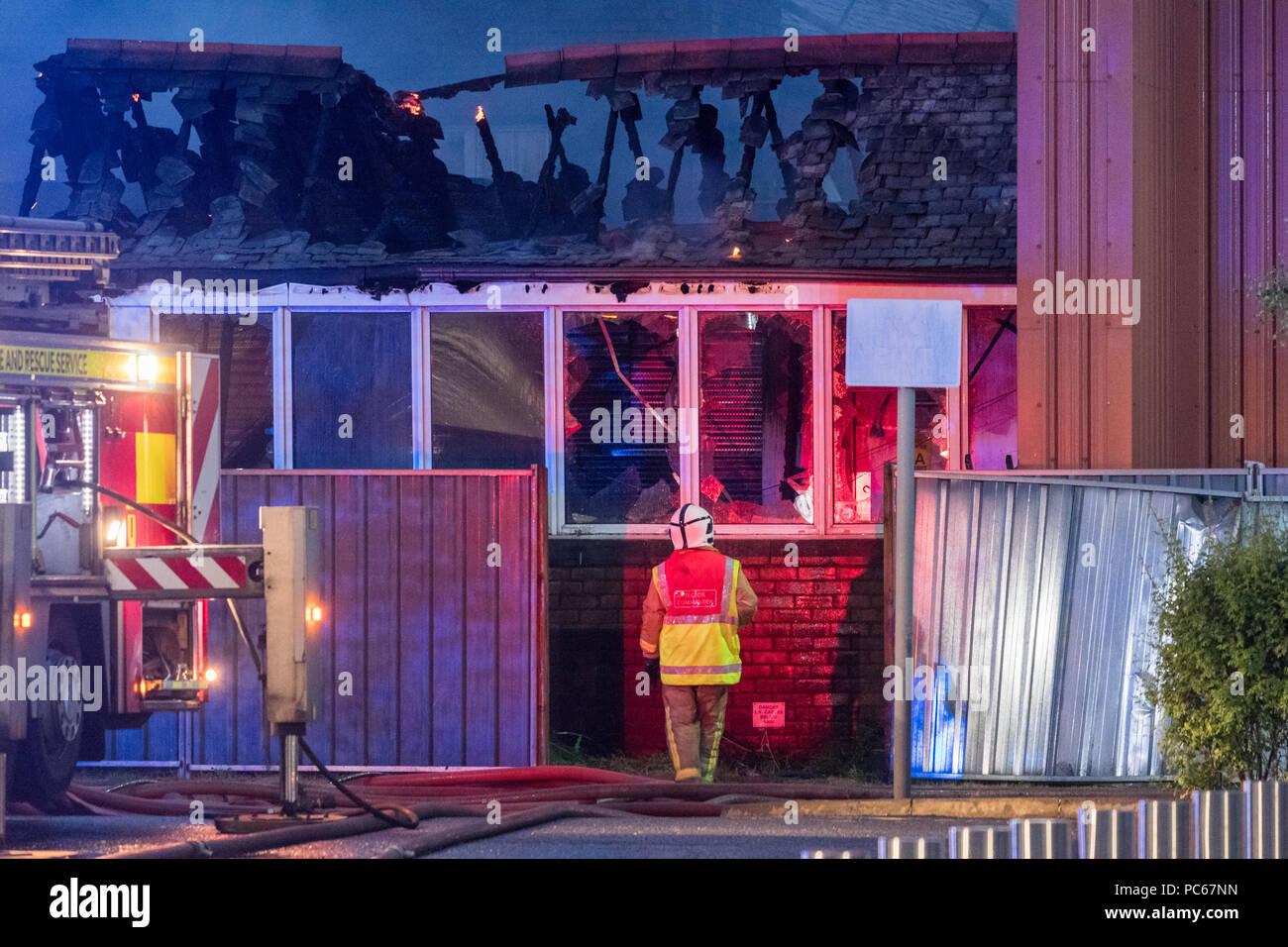 glasgow-scotland-uk-31-july-2018-firefig