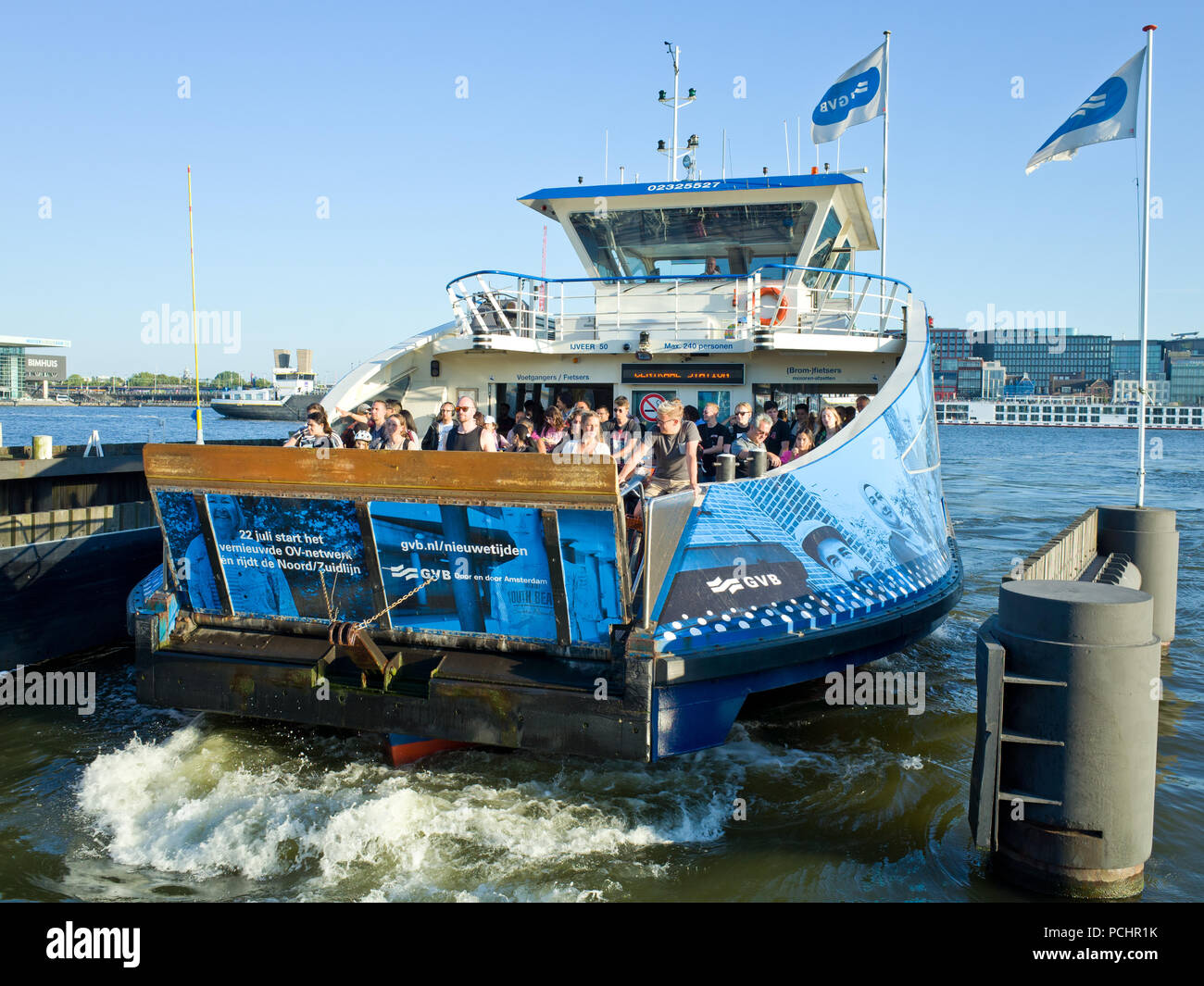 Passenger Ferry Amsterdam Holland Stock Photo