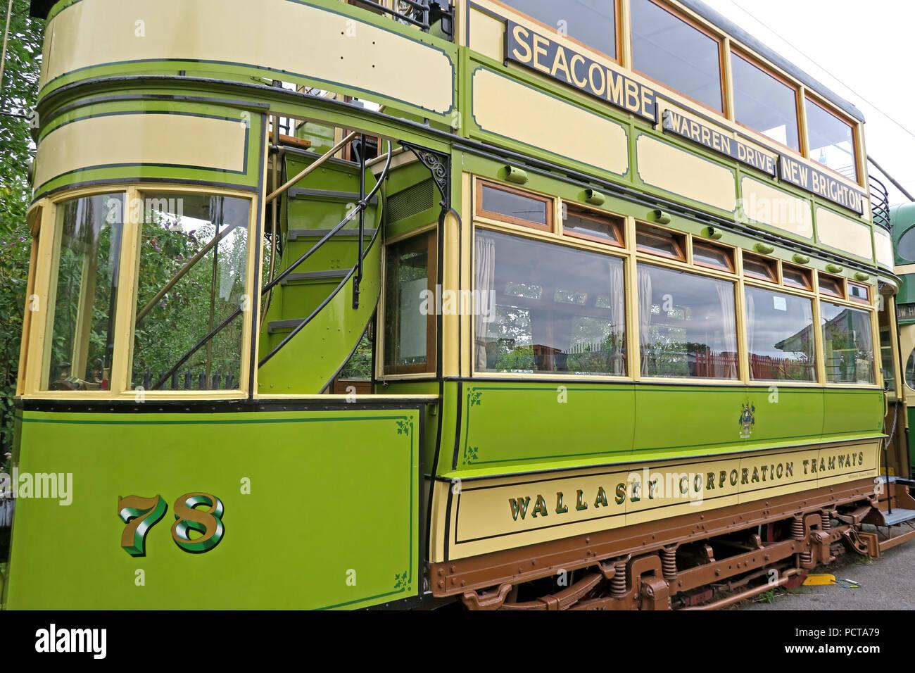 GoTonySmith,@HotpixUK,Transport,tram,trams,Birkenhead,green,cream,creme,north west England,UK,England,public,public trams,public tram,history,historic,electric,78 Seacombe tram,78,Seacombe tram,78 Seacombe