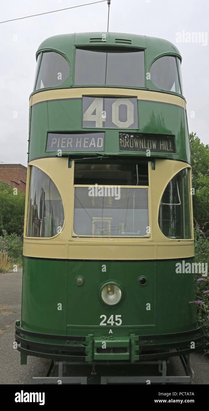 GoTonySmith,@HotpixUK,Transport,tram,trams,Birkenhead,green,cream,creme,north west England,UK,England,public,public trams,public tram,history,historic,electric,Brownlow hill,Pierhead,40