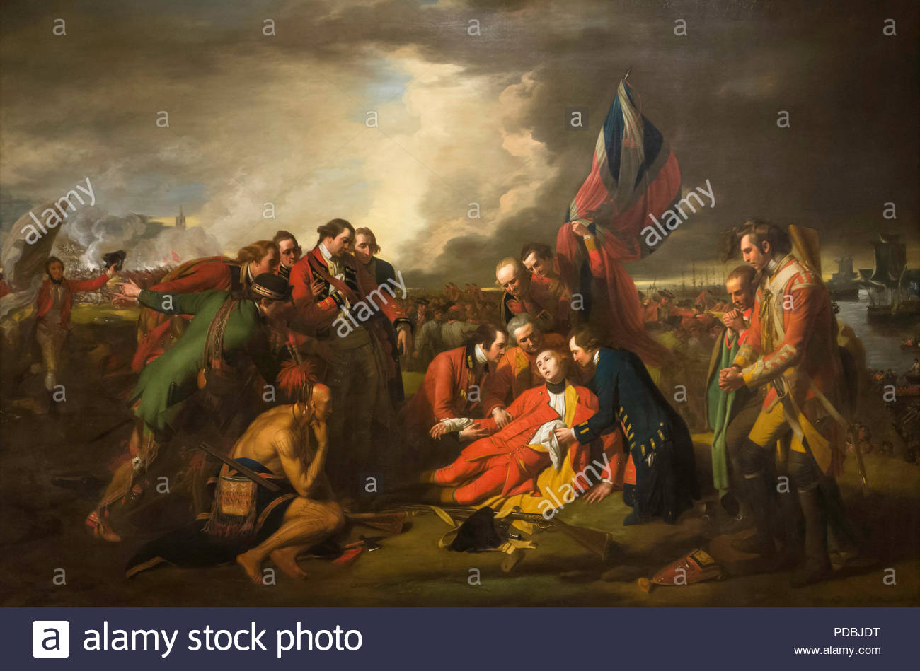 The Death of General Wolfe by Benjamin West oil on canvas painted 1776 Royal Ontario Museum ROM in Toronto Ontario CanadaStock Photo